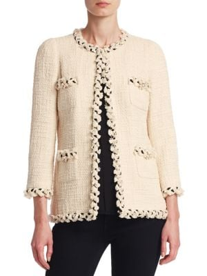 Hip Length Tweed Jacket