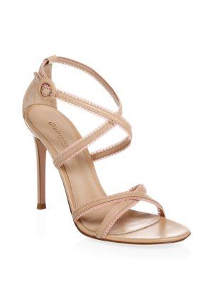 Crisscross Strap Leather Sandals