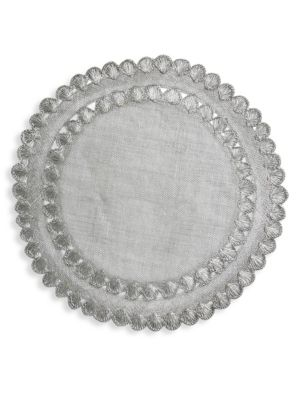 Isadora Silver Woven Placemat
