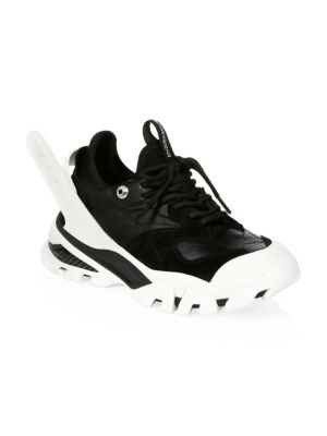 Black and White Carla Leather Sneakers