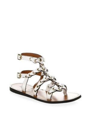 Gladiator Chain Link Leather Sandals