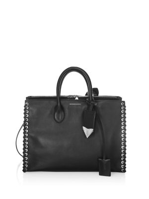 Whip Stitch Leather Tote