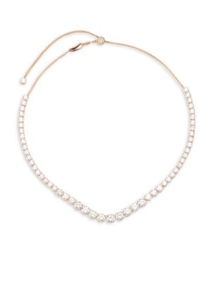 Sterling CZ Essentials Graduated Adjustable Necklace