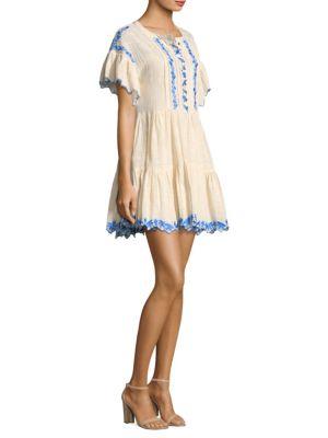 Santiago Embroidered Mini Dress