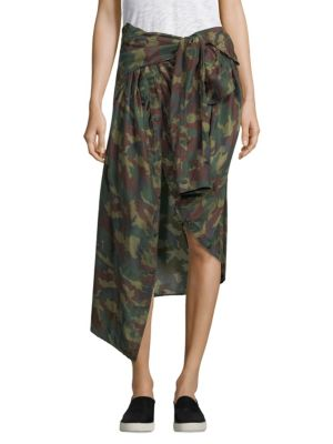 Camouflage-Print Skirt