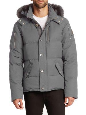 3Q Fox Fur-Trimmed Puffer Jacket