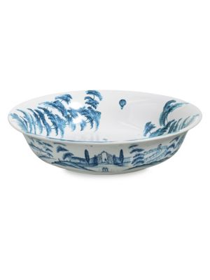 Country Estate Delft Blue Kites Serving Bowl