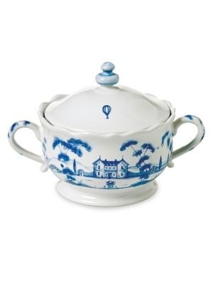 Country Estate Delft Sugar Pot