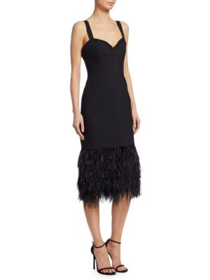 Sabine Feather Midi Dress