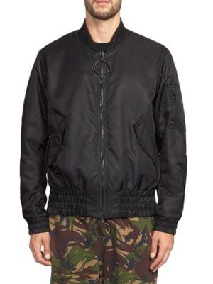 Fire Tape Bomber Jacket