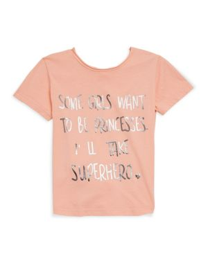 Toddler's, Little Girl's & Girl's Superhero Tee