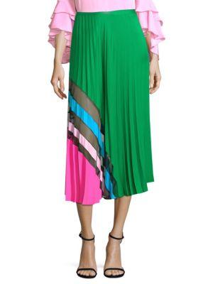 Accordion Pleat Maxi Skirt