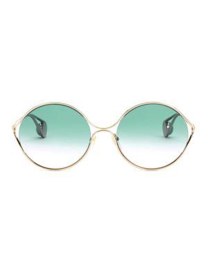 58MM Oval Sunglasses