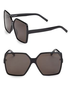 63MM New Wave Betty Square Sunglasses