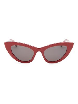 52MM Red New Wave 213 Lily Sunglasses