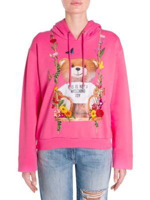 Bear Floral-Print Sweatshirt