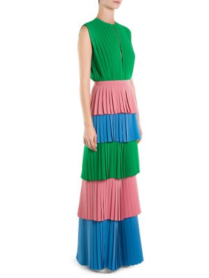 Pleated Colorblock Jumpsuit
