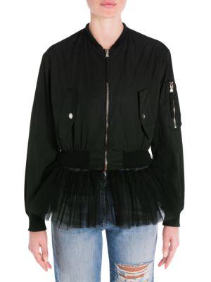 Zip-Front Bomber Jacket