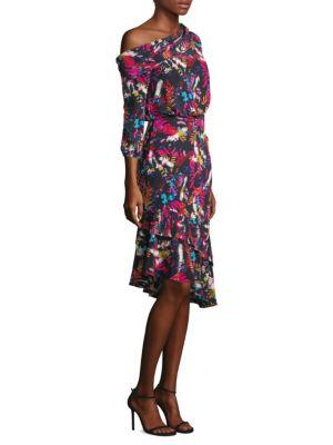 Lexie Silk Off-Shoulder Dress