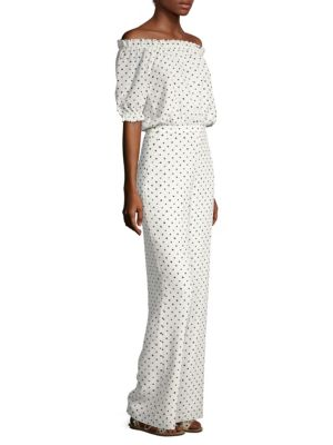 Juli Polka Dot Silk Jumpsuit