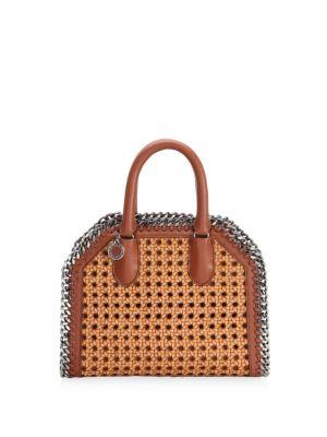 Wicker Chain Tiny Tote Bag