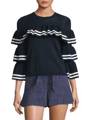 Rhonda Ruffle Sweater
