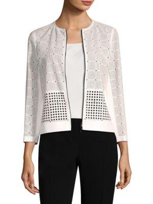 Emma Laser-Cut Silk Blend Jacket
