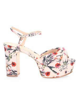 Thalyta Floral-Print Sandals