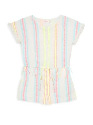 Toddler's, Little Girl's & Girl's Stripe Fringe Romper