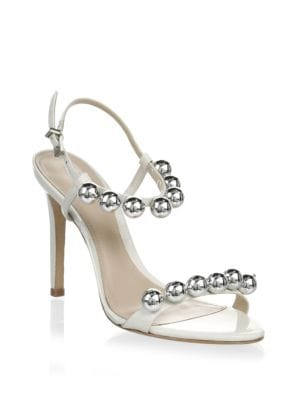 Nellie Leather Stiletto Sandals
