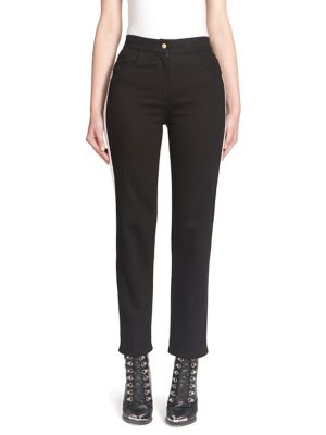 Striped Straight-Fit Trousers