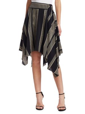 Printed Handkerchief Slit Skirt