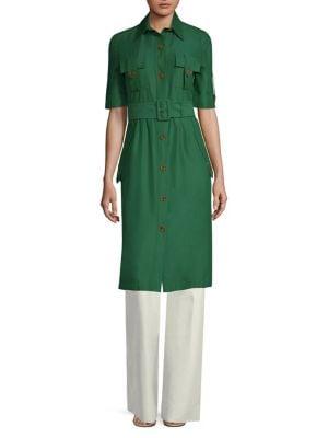 Short-Sleeve Utility Shirt Dress