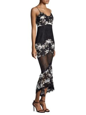 Embroidered Lace Paneled Dress