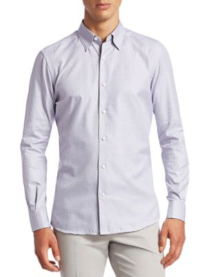 Houndstooth Button-Down Shirt