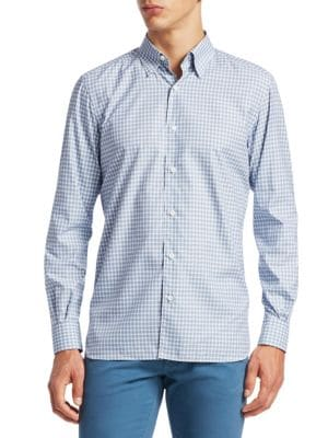 Slim Fit Check Button-Down Shirt