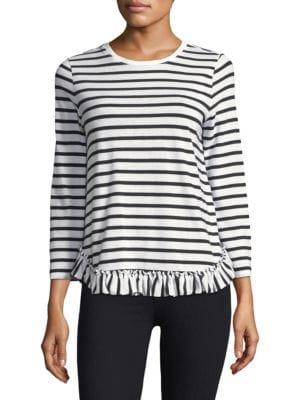 Striped Ruffle Shirt