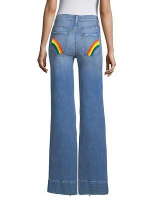 AO.LA Gorgeous High-Rise Flare Jeans