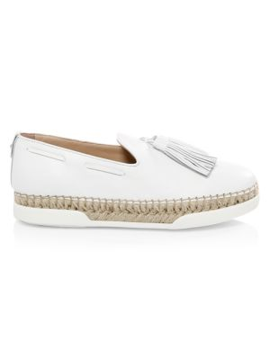 tasselled flatform loafers - White Tod's plym7Mc
