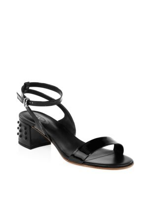 Tod's Leather Slingback Sandals 2018 Unisex For Sale Outlet Amazon aovebEMzY