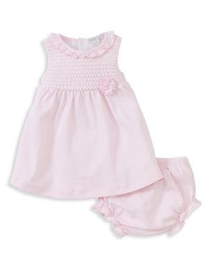 Baby's Breeze Two-Piece Cotton Dress and Bloomers Set