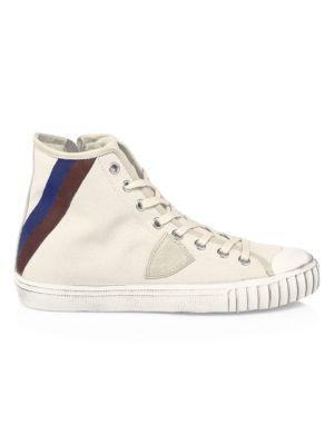 Striped Gare Hi-Top Sneakers