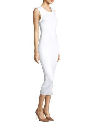 Ruffle-Trim Bodycon Dress