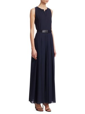 Wool Crepe Maxi Dress