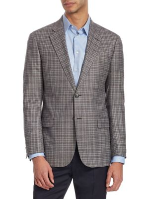 G Line Checked Wool Jacket
