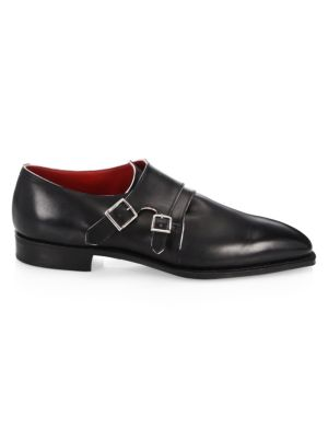 CORTHAY Arca Twin Pullman French Calf Leather Piped Shoes