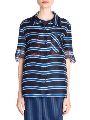 Striped Organza Shirt