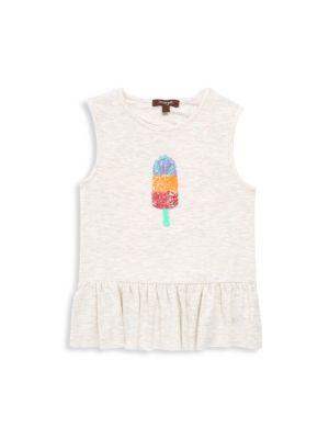Toddler's, Little Girl's & Girl's Sparkle Pocket Ruffle Dress