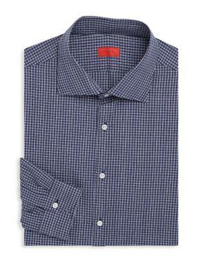 Regular-Fit Gingham Cotton Dress Shirt