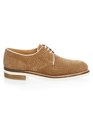 CORTHAY Bayou Lace-Up French Calf Suede Derby Shoe